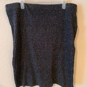 Knit Plus Size Pencil Skirt